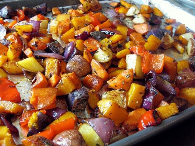 verduras no forno