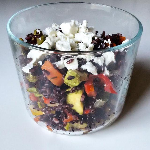 arroz preto legumes